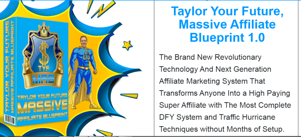 Features of the Massive Affiliate Blueprint 1.0