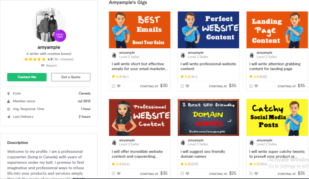 Amyample Best Content Writers To Hire On Fiverr