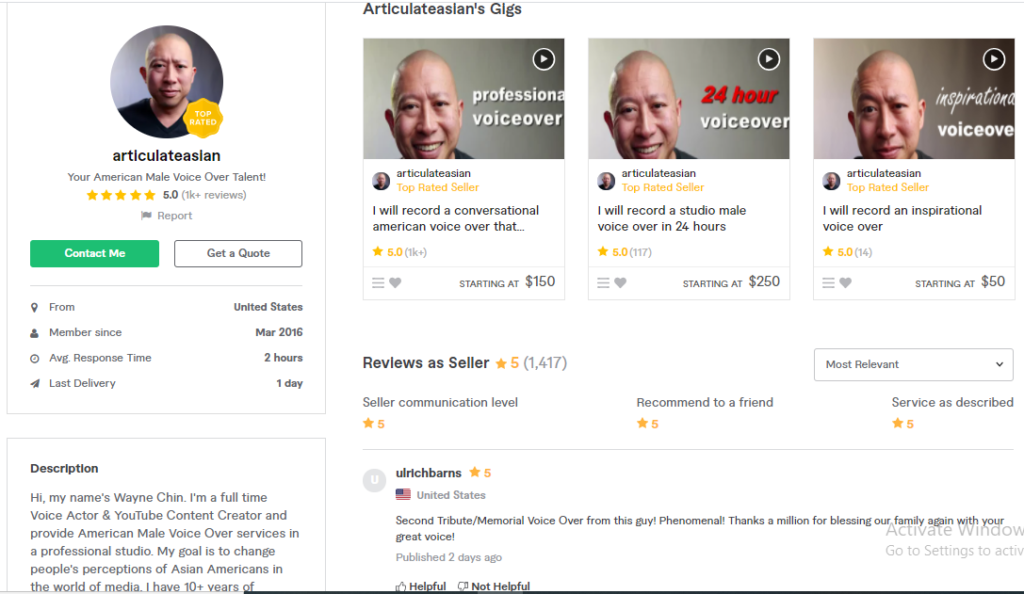 Hire Articulateasian For Your Spokesperson or VoiceOver Service On Fiverr