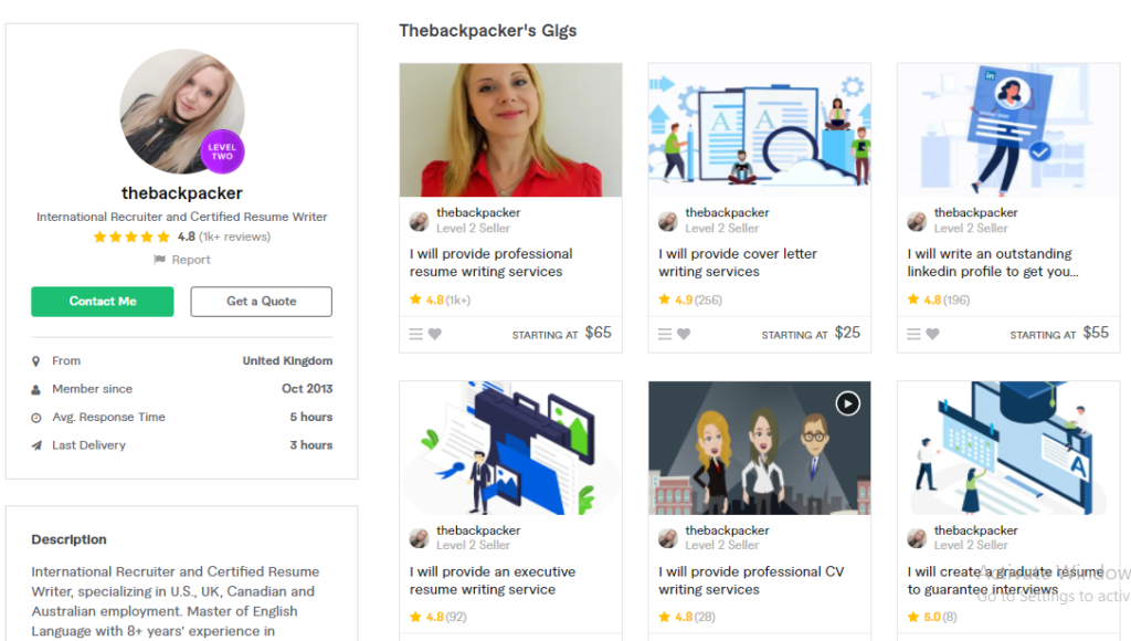 Thebackpacker Best Content Writers To Hire On Fiverr