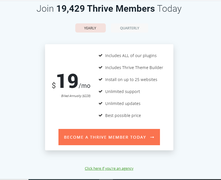 Thrive Themes Pricing Options