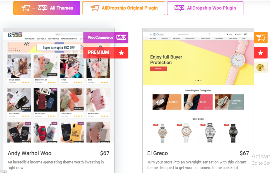 Best Woocommerce Dropshipping Theme Compatible with Alidropship
