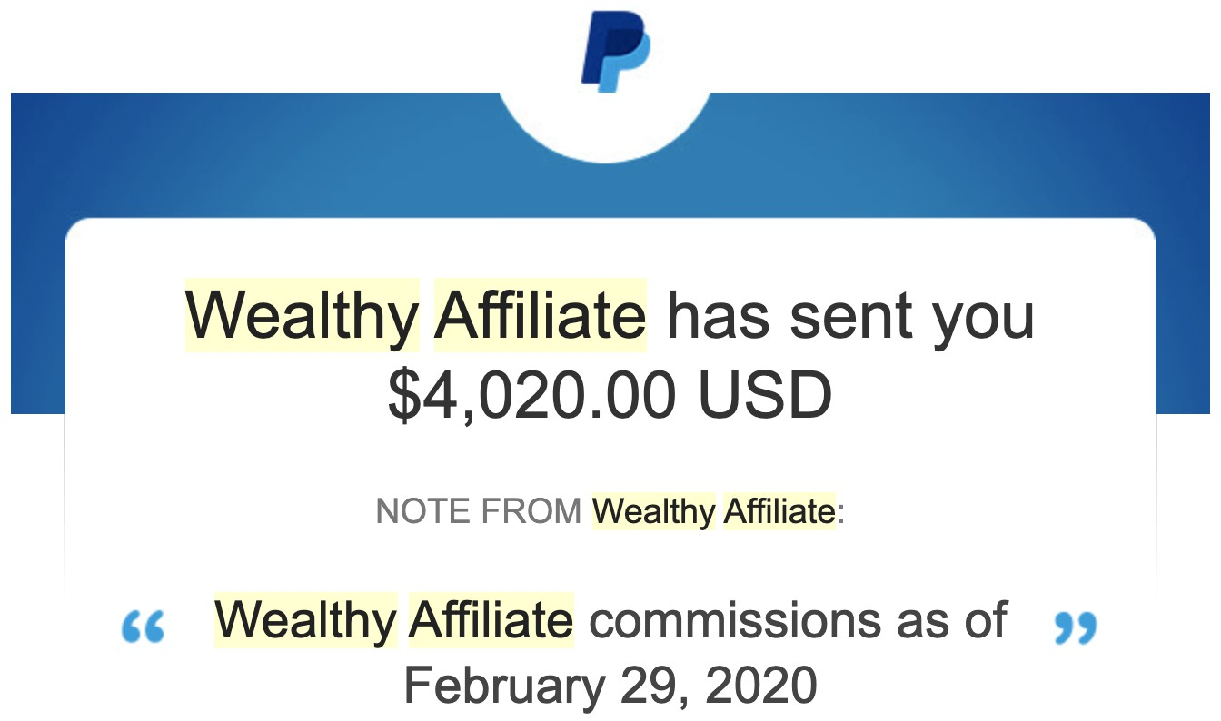 Wealthy Affiliate Payment Proof In 2020