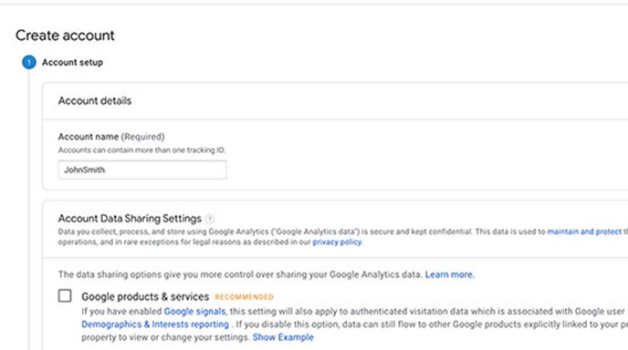 create and setup Google Analytics on your WordPress site