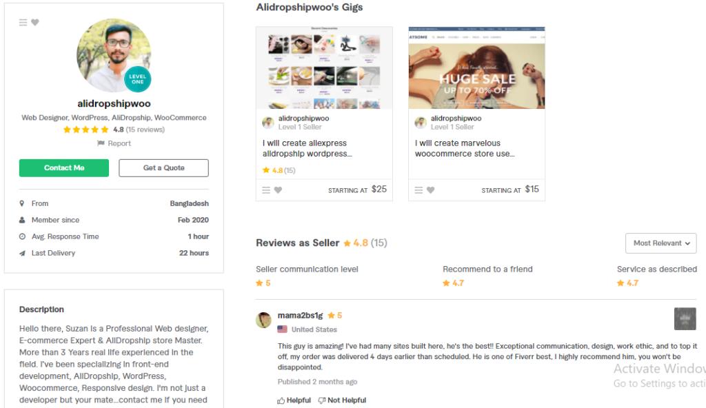 Alidropshipwoo Best WordPress  eCommerce Developer on Fiverr