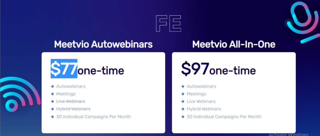 Meetvio Evolution Pricing