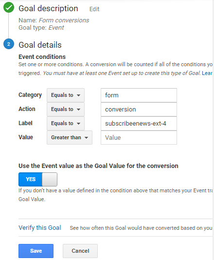 Conversion Tracking In Google Analytics WordPress form, right-click on your form and tap Inspect