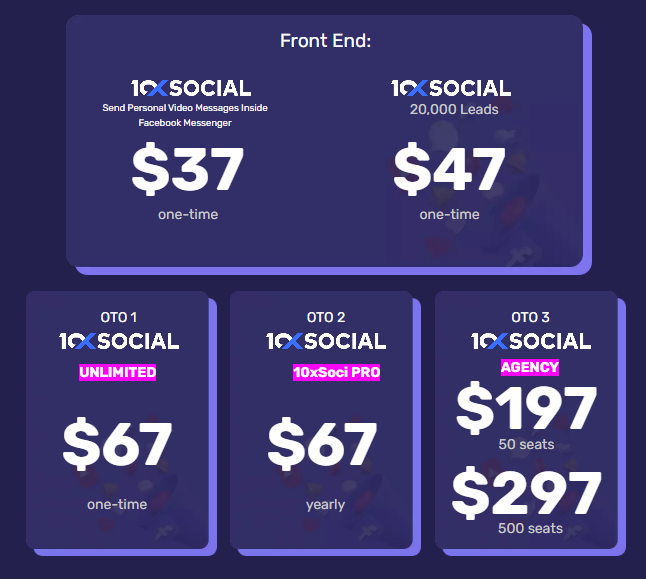 10XSocial Pricing
