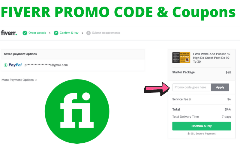 FIVERR PROMO CODE & Coupons