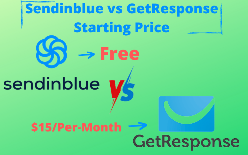 Sendinblue vs GetResponse Starting Pricing