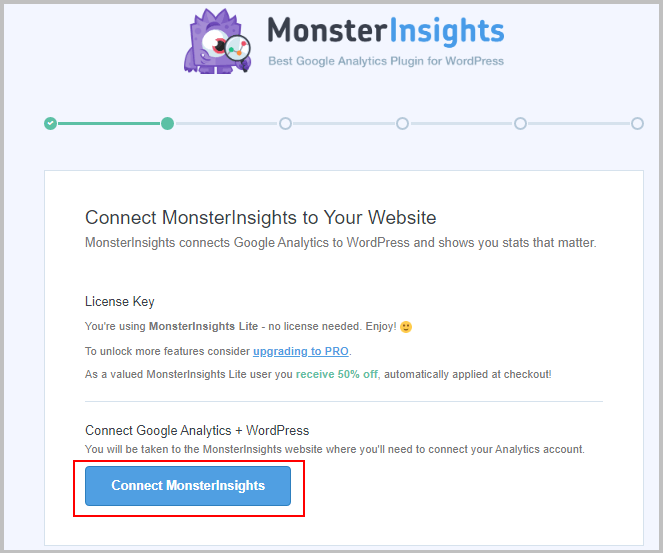 Connect-MonsterInsights-to-Google-Analytics now Global Site tag