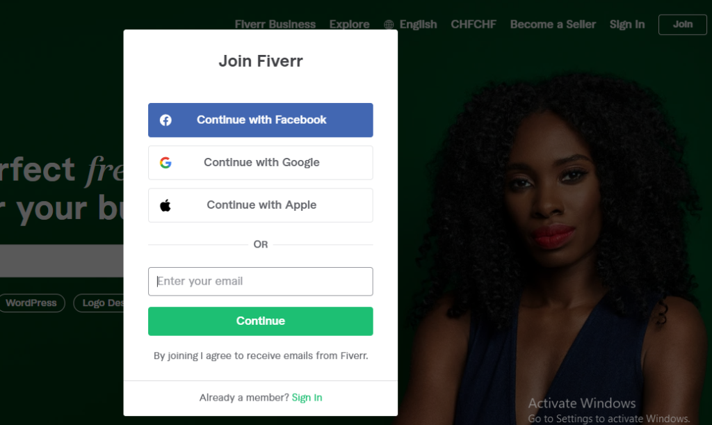 join fiverr with promo code