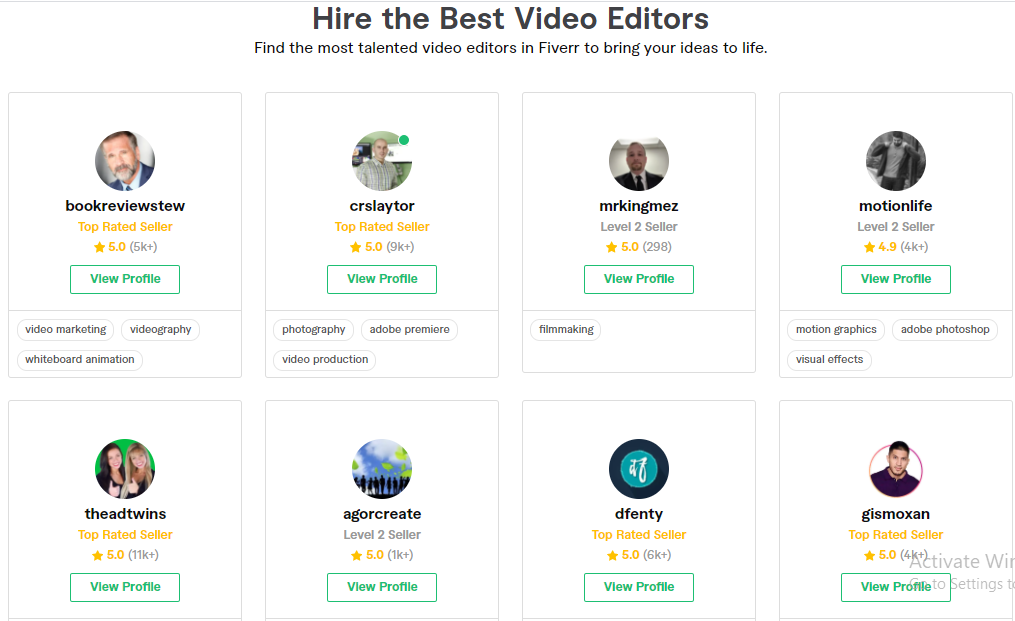 Start A YouTube Channel With video editing Fiverr Gigs
