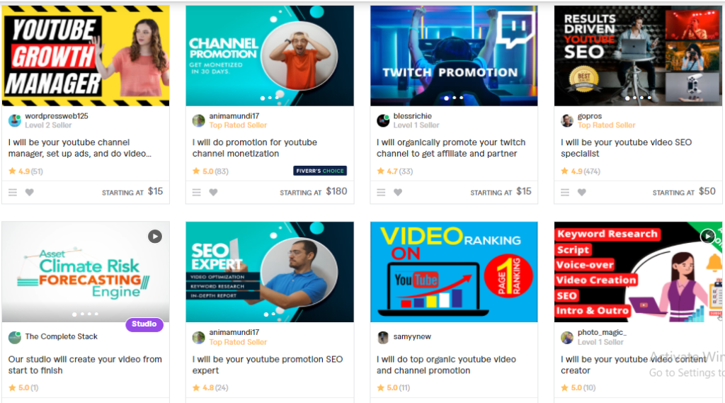 YouTube Promotion Or Marketing Services
