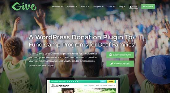 GiveWP ecommerce plugin
