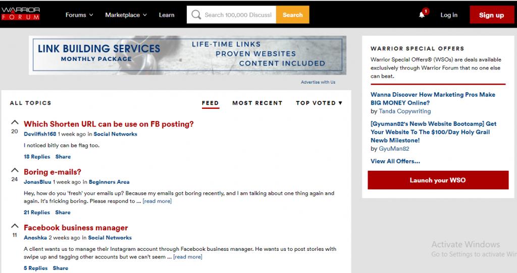 Warrior affiliate marketing Forum